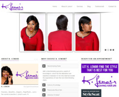 """""""K. Lenoir believes that the first step to healthy hair is a knowledgeable stylist. She loves to share by teaching new stylists or teaching seasoned stylists new techniques."""""""