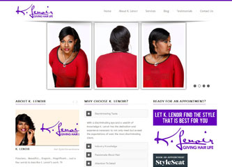 """K. Lenoir believes that the first step to healthy hair is a knowledgeable stylist. She loves to share by teaching new stylists or teaching seasoned stylists new techniques."""